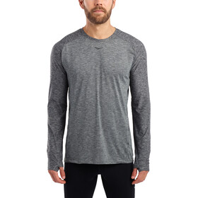 saucony Breakthru Long Sleeve Shirt Men, dark grey heather